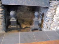 Marlowe's photo of the stone fireplace in the old house.